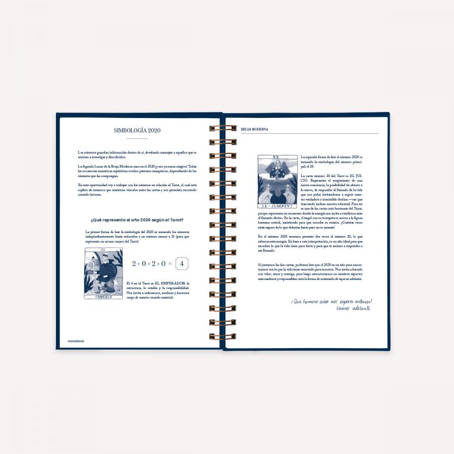 Calendario Lunare 2020 2020.Agenda Lunar 2020 A5 Medianoche Bruja Moderna 2 Dias Por