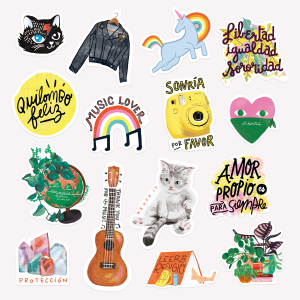 Happimess Stickers Set