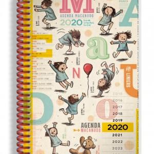 Agenda 2020 Macanudo Anillada Letras
