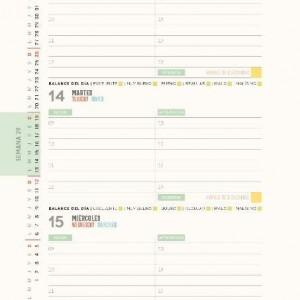 Planner 2020 Macanudo Spiral Letras Open Week