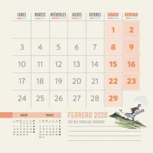Calendario 2020 de Pared Macanudo