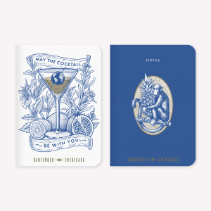 Bartender Entrecasa Pocket Notebook Set x2