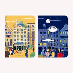 Barcelona De Viaje Notebook Set x 2