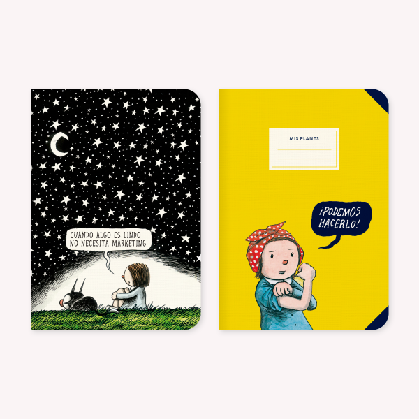 Pocket Notebook set x 2 Macanudo Noche Estrellada