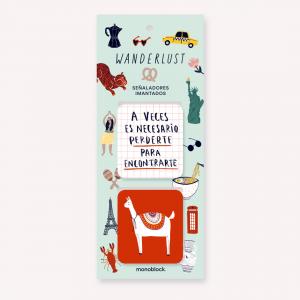Magnetic Bookmarkers De viaje Wanderlust