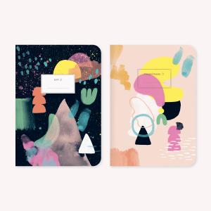 Happimess Arte Pocket Notebook x2