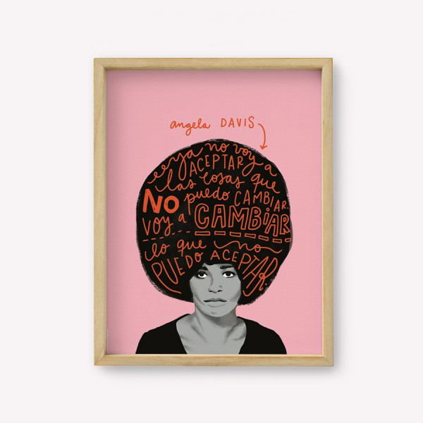 Wall Art Happimess Angela Davis  30x40cm