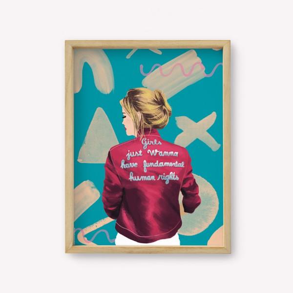 Wall Art Happimess Fundamental Rights 30 x 40 cm