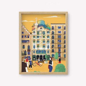 Barcelona Travel Wall Art 30x40cm