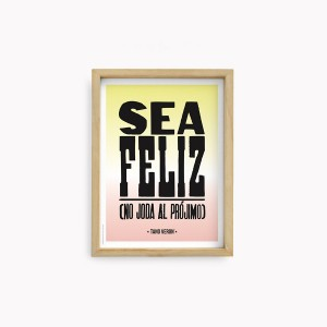Sea Feliz  Tano Veron Wall Arts 22x30cm