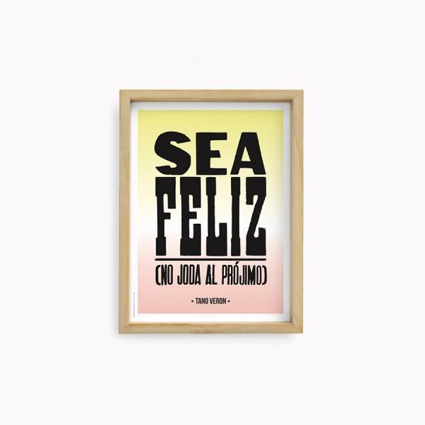 Sea Feliz  Tano Veron Wall Arts 22x30cm