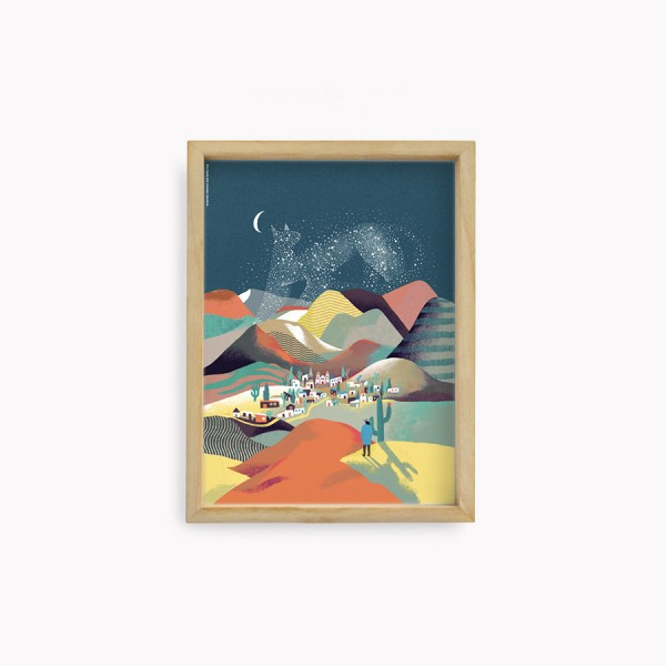 Norte Argentino night Travel Wall Art 22x30