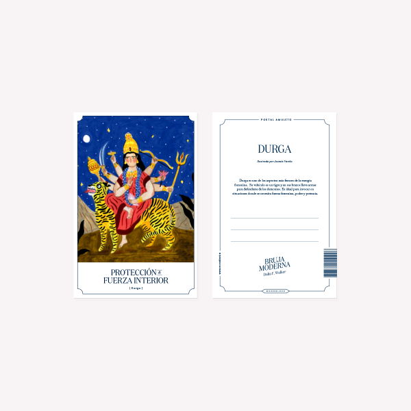 Postal Bruja Moderna Durga