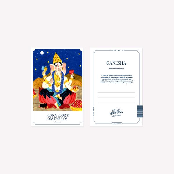 Postal Bruja Moderna Ganesha