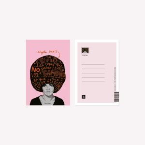 Happimess Angela Davis Postcard