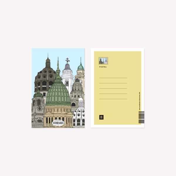 Cupulas Postcard