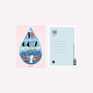 Happimess  Una gota Postcard