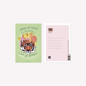 Happimess Tigre Frida Postcard