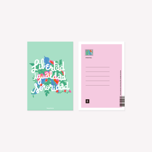 Happimess Sororidad Postcard