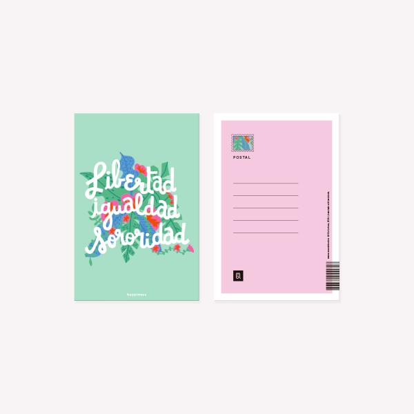 Postal Happimess Sororidad 10 x 15 cm