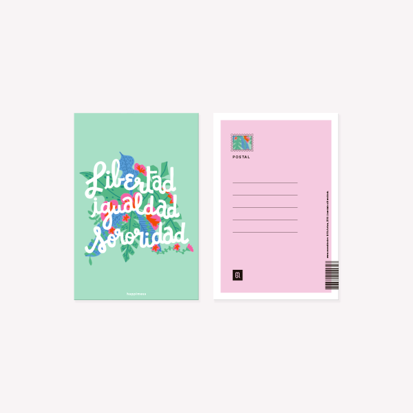 Sororidad Happimess Postcard 10 x 15 cm
