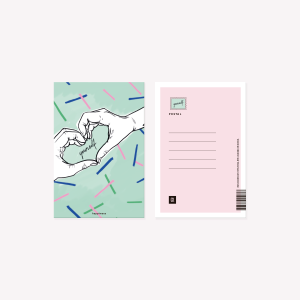 Postal Happimess love yourself 10 x 15 cm