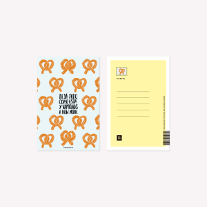 New York Pretzel Happimess Postcard 10 x 15 cm
