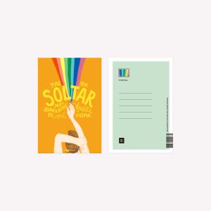 Happimess Soltar Postcard