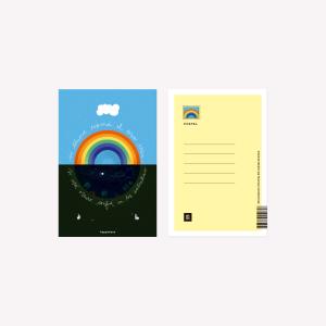 Si llueve  Happimess Postcard 10 x 15 cm