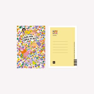 Pepita Sandwich Postcard Sos una obra de Arte  10x15 cm