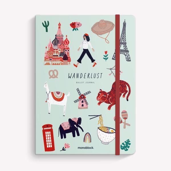 Cuaderno Cosido A5 Punteado De viaje Wanderlust