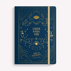 Creer para ver Dotted Sewn Notebook BLUE, Bruja Moderna