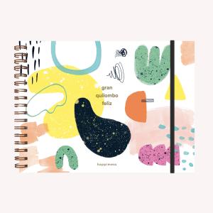 Cuaderno A4 Apaisado Happimess Quilombo
