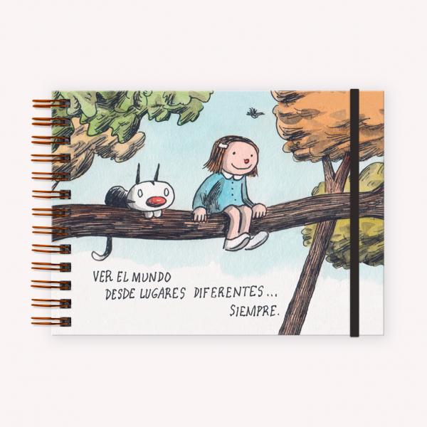 Cuaderno de Dibujo A5 Apaisado Macanudo Lugares Diferentes