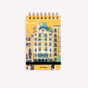 De Viaje Barcelona Ringed Reporter Notebook