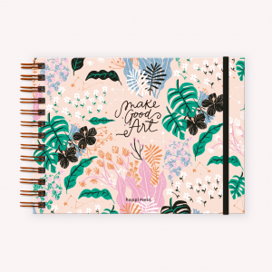 Cuaderno apaisado Happimess Believe Rosa