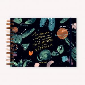Cuaderno A5 Apaisado Happimess Universo en una Estrella