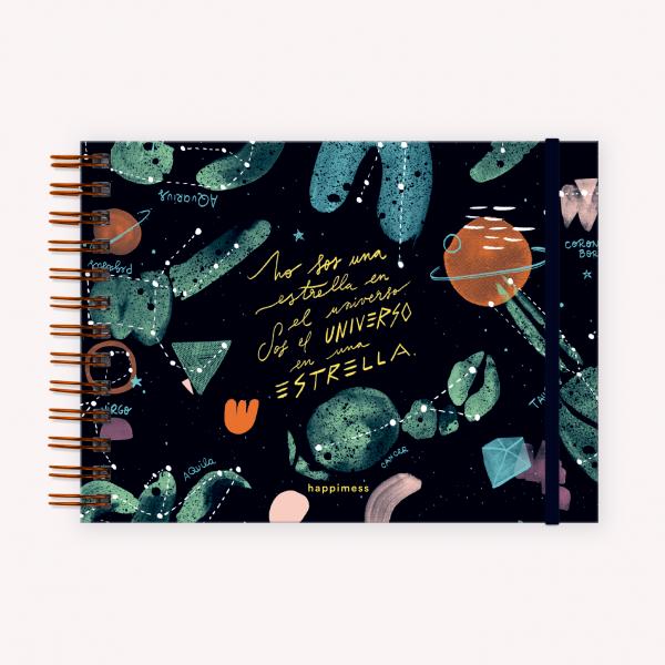 Cuaderno de Dibujo A5 Apaisado Happimess Universo