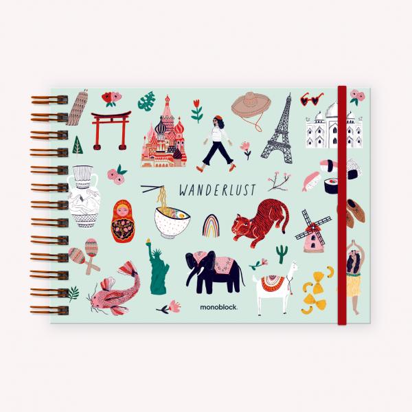 Cuaderno de Dibujo A5 Apaisado De Viaje Wanderlust