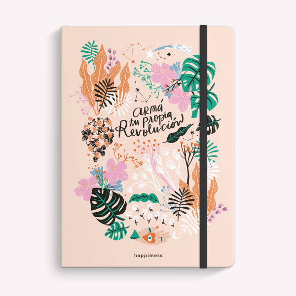 Quilombo Feliz Medium Sewn Notebook Plain