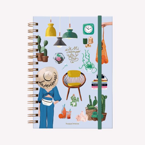 Spiral Notebook A5 Ruled Happimess Mi tiempo es Oro