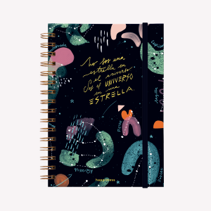 Spiral Notebook A5 Bullet Journal Happimess Universo