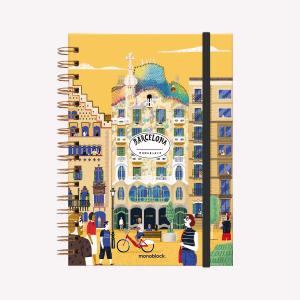 Spiral Notebook A5 Plain De viaje Barcelona