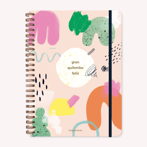 A4 Quilombo Grid Notebook, Happimess