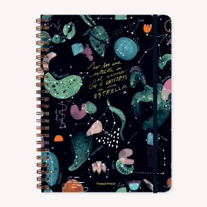 A4 Universo Grid Notebook, Happimess
