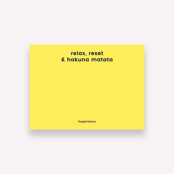 Notas Adhesivas Happimess Colorblock Hakuna Matata
