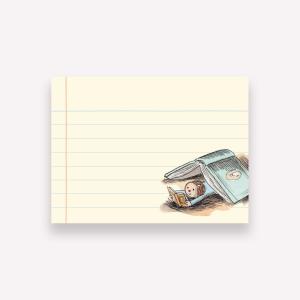 Macanudo Enriqueta Leyendo Sticky Notes