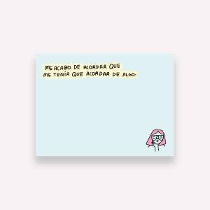 Notas Adhesivas Pepita Sanwich - Me Acordé