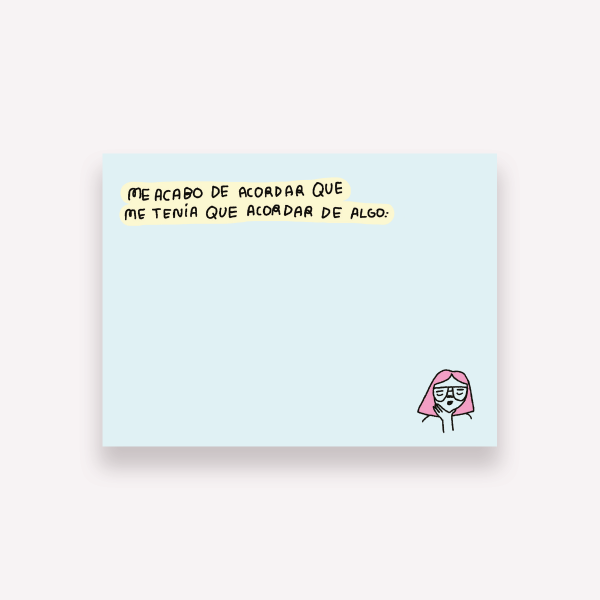 Sticky Notes Pepita Sandwich - Me acordé 10x7,4 cm