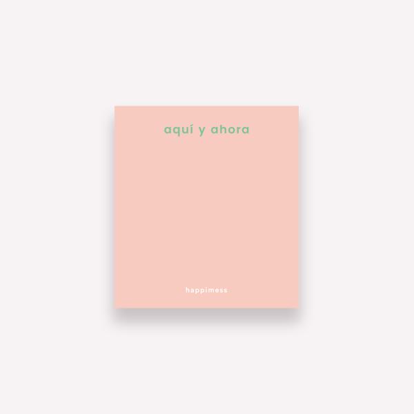 Happimess Colorblock Aquí y Ahora Sticky Notes